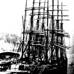 Tall Ship at Dock c.1890-1900