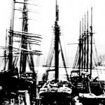 Three Ships at Dock