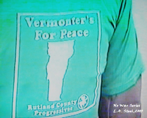 Vermont peace protester