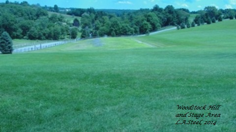 woodstock hill and stage area