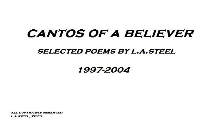 cantos of a believer title page
