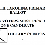 SO CAROLINA PRIMARY BALLOT