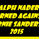 ralph nader warned against bernie sanders