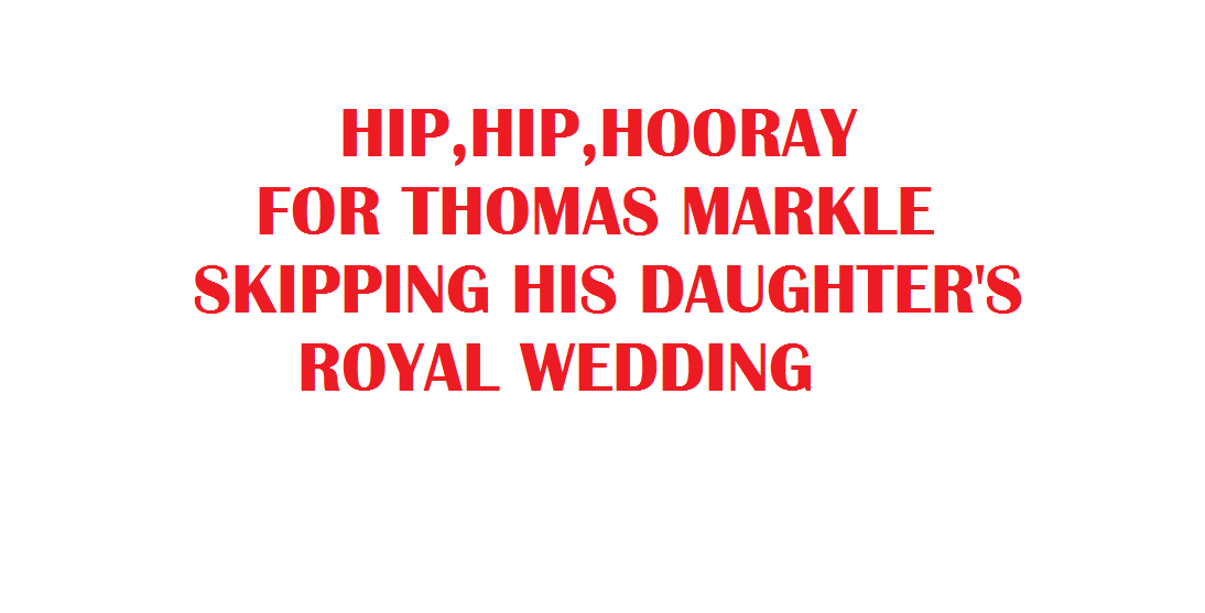 HIP HIP HOORAY FOR THOMAS MARKLE 2018
