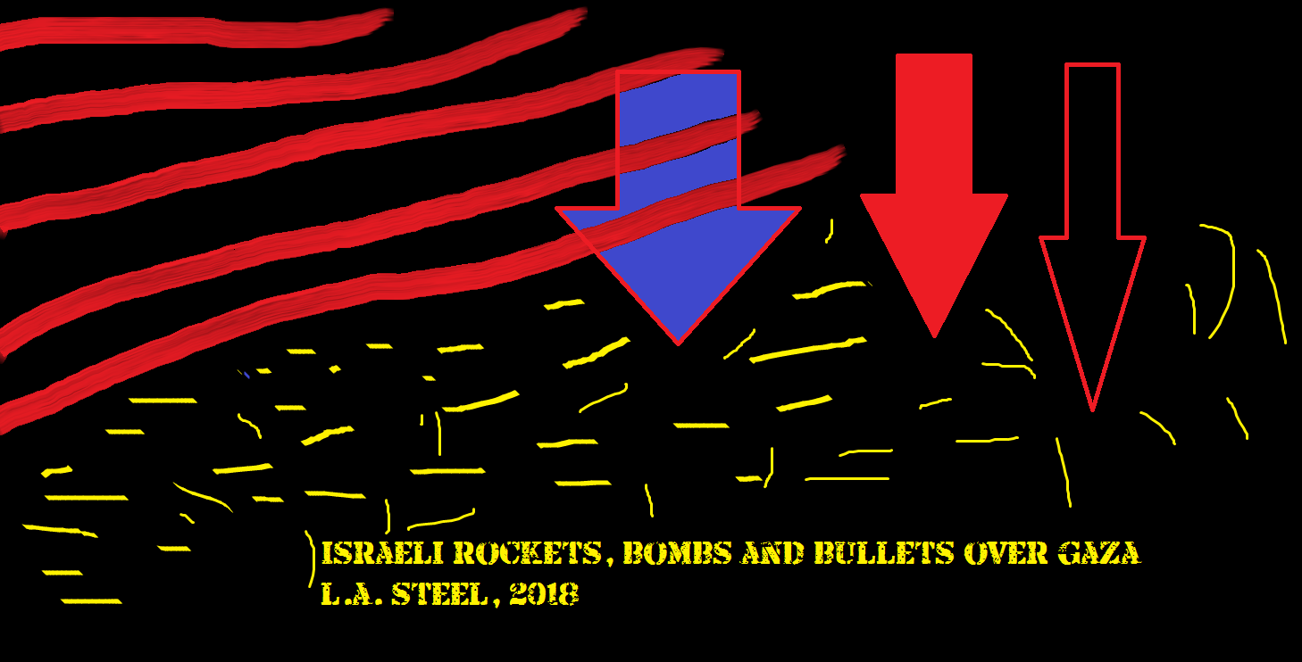 israeli rockets bombs and bullets over gaza 2018