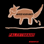 jared kushner as dog shits on palestinians 2018