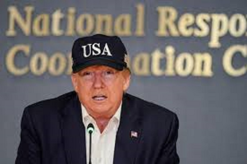 trump wearing usa 45 hat 2019