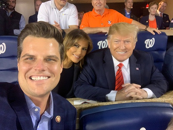Gaetz trump's trained money 2019