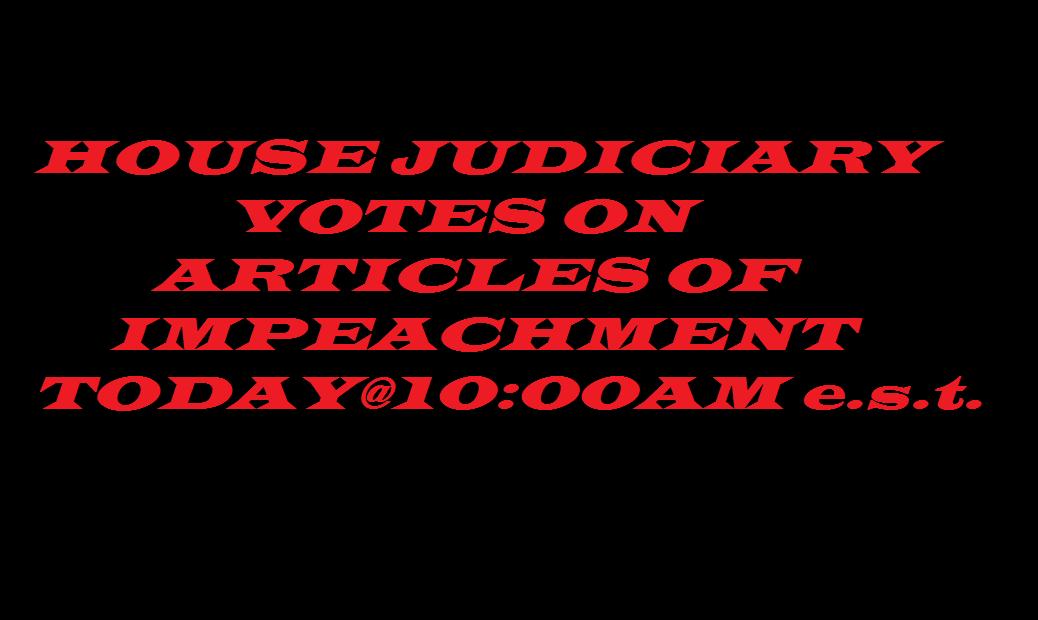 HOUSE JUDICIARY IMPEACHMENT VOTE 12 13 19