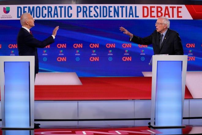 biden sanders debate 2020 picture