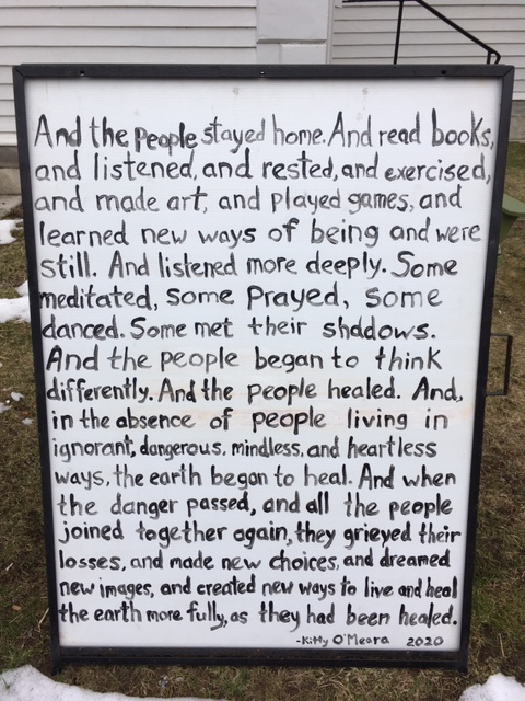 salisbury church poem sign 2020