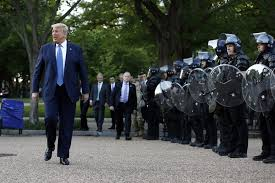 trump and troops before church photo 2020