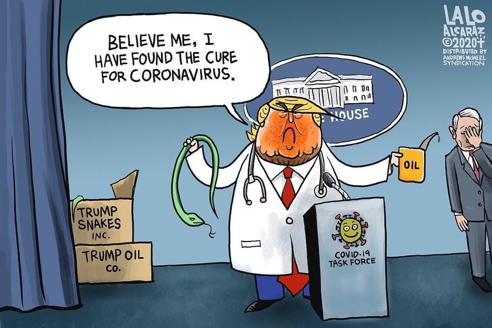 trump's new corona cure picture