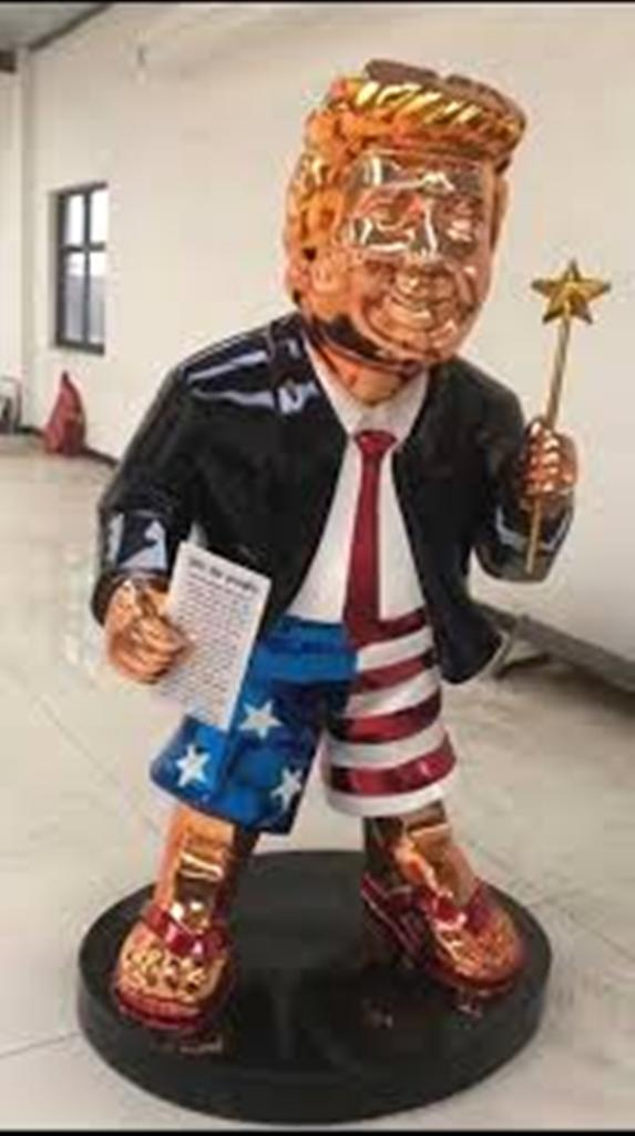 trump golden statue 2021 cpac
