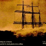 A Tall Ship In A Storm
