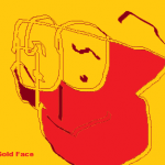 red and gold face