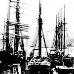 Three Ships at Dock