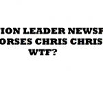 UNION LEADER NEWSPAPER ENDORSES CHRIS CHRISTIE WTF