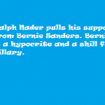 nader pull support from sanders