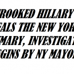 CROOKED HILLARY STEALS NEW YORK PRIMARY