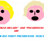 HILLARY AND LIZZY THE DAM RAT PRESIDENTIAL TICKET