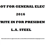 BALLOT OR GENERAL ELECTION 2016