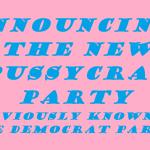 the pussycrat party announcement