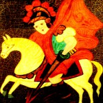 knight on horse with spear