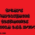trump's impeachment tesimonies 2019